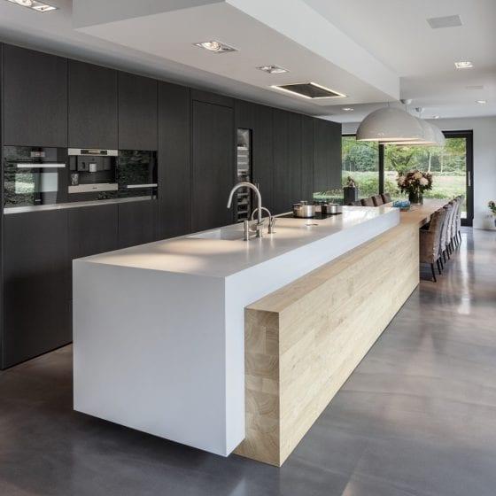 Living Concrete keuken eetkamer cementgebonden gietvloer