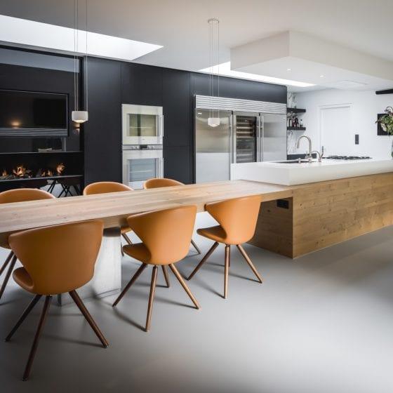 Keuken renovatie Urban Velvet grijze gietvloer